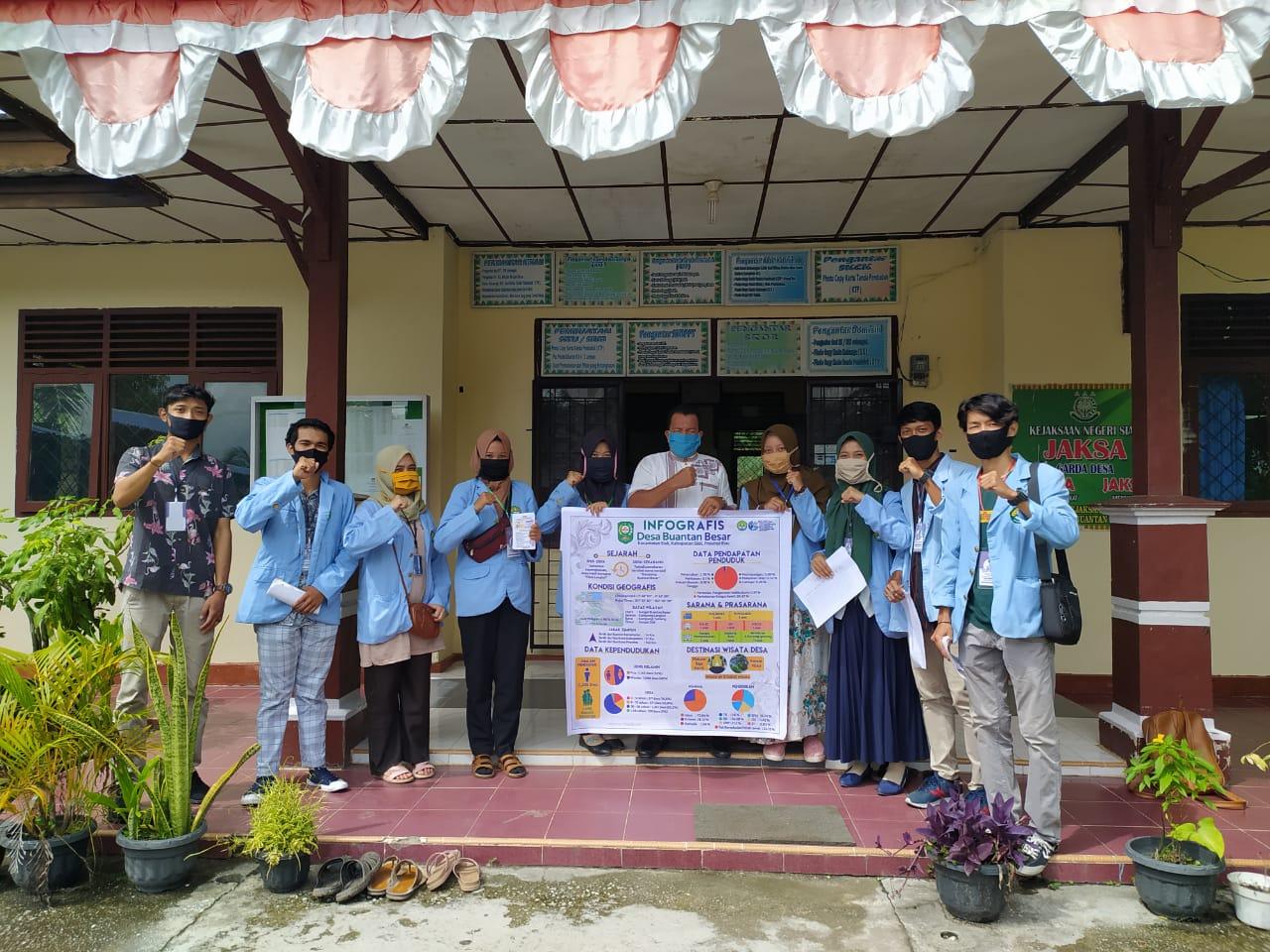 Tim Kukerta UNRI Dukung Pengembangan Profil Desa Buatan Besar