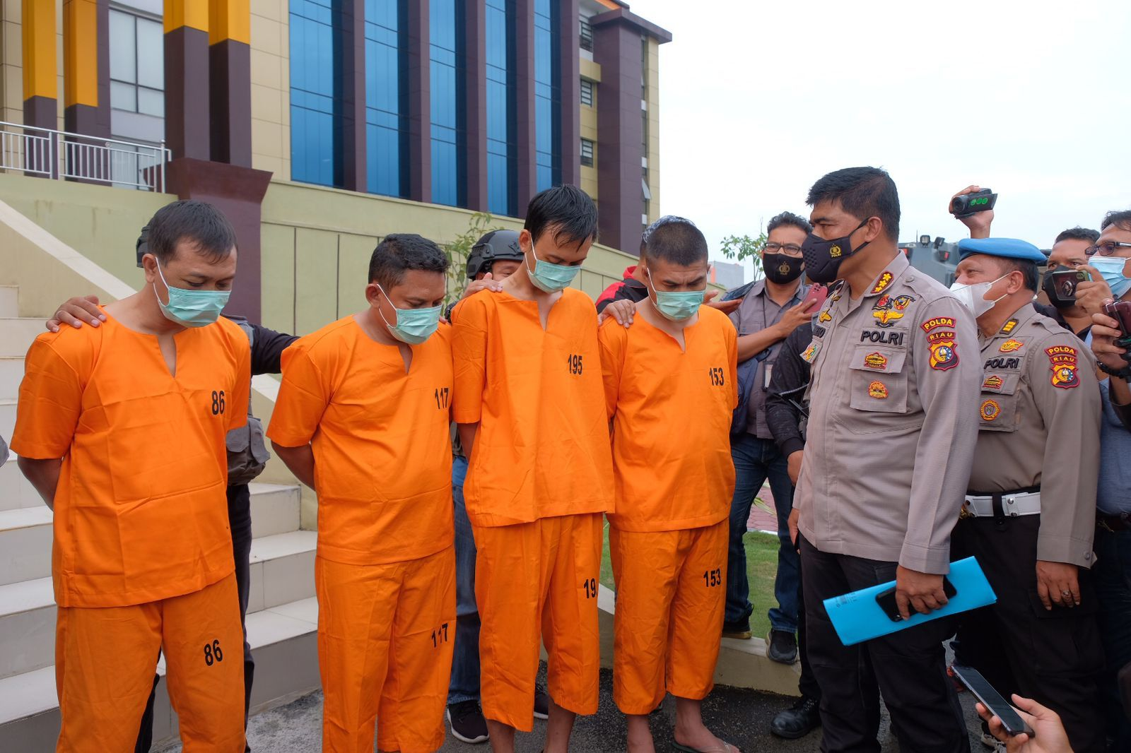 Tim Gabungan Bekuk Kawanan Curas Perampok Uang Rp 775 Juta di Mesin ATM di Rohul