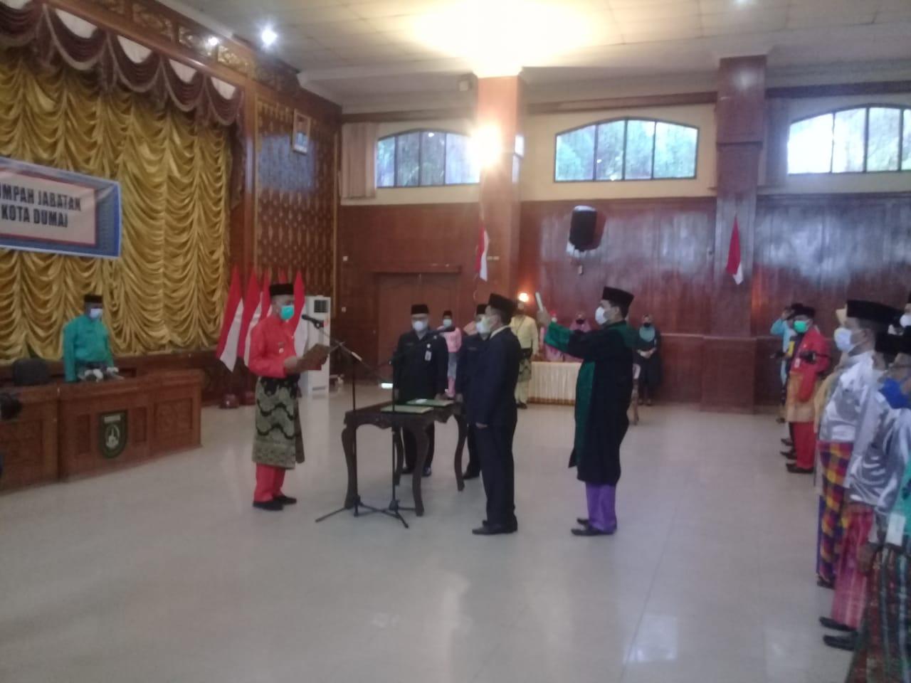 Walikota Hadiri Pelantikan Penjabat Sekda Kota Dumai