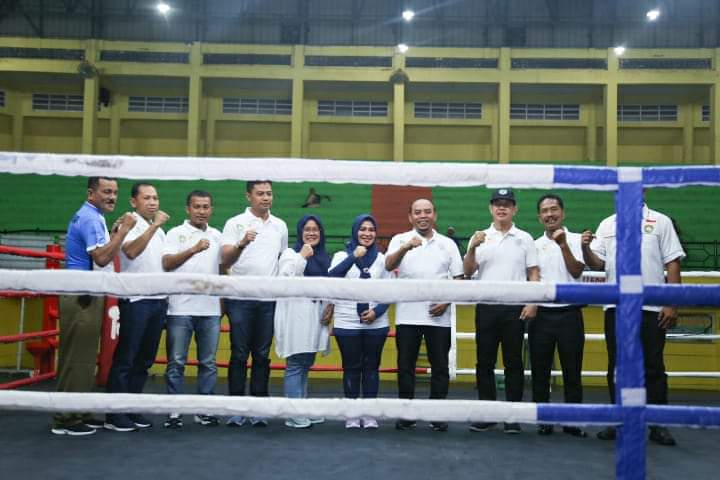Bupati Labuhanbatu Buka Pagelaran Kejuaraan Tinju Tingkat Sumatera Utara di GOR Rantauprapat