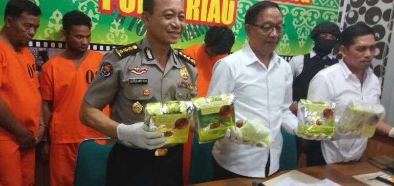 Kasus Narkoba di Riau Meningkat Tajam Selama 2018