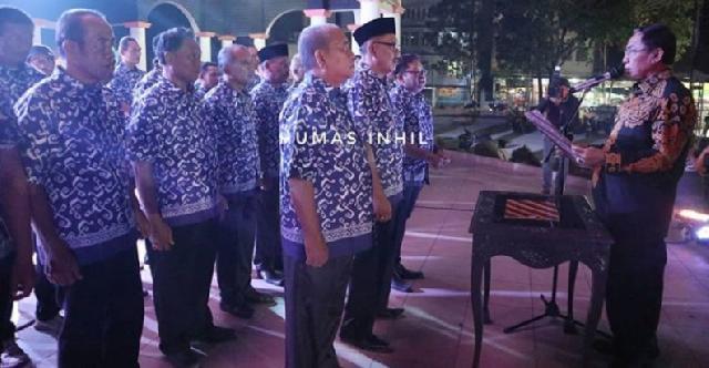 Bupati Wardan Lantik Pengurus DKR Inhil Periode 2019-2024