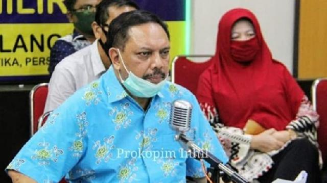 Lewat Vidcon, Pemkab Inhil Koordinasikan Mekanisme Pelaksanaan Bansos Terkait Covid-19