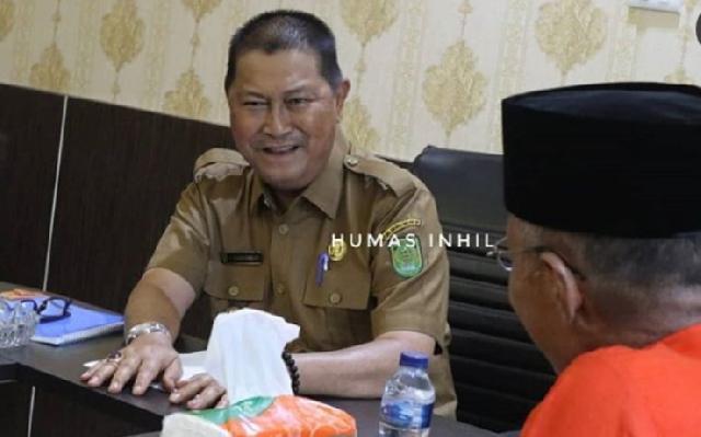 Wabup Inhil Sambut Kunjungan Tim BPS Riau