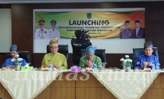 Bupati Inhil Launching Perizinan Online