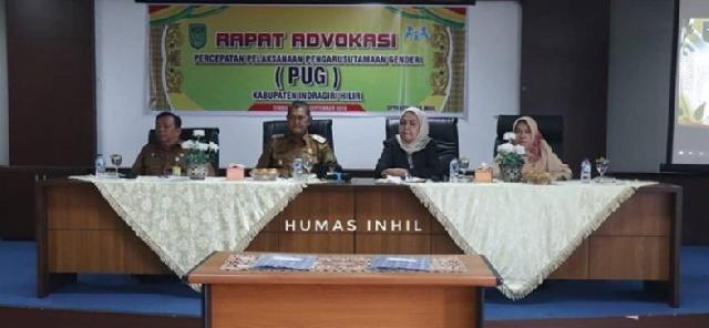 Wabup Inhil Buka Rapat Advokasi Percepatan Pelaksanaan Pengarustamaan Gender