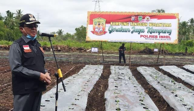 Bupati Resmikan Kampung Tangguh Nusantara di Tembilahan Hulu dan Kempas