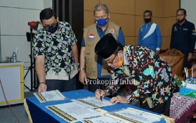 Bupati Inhil Resmikan Pasar di 4 Kecamatan Melalui Media Virtual