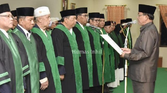 Bupati Wardan Lantik Dewan dan Majelis Hakim MTQ Inhil 2019