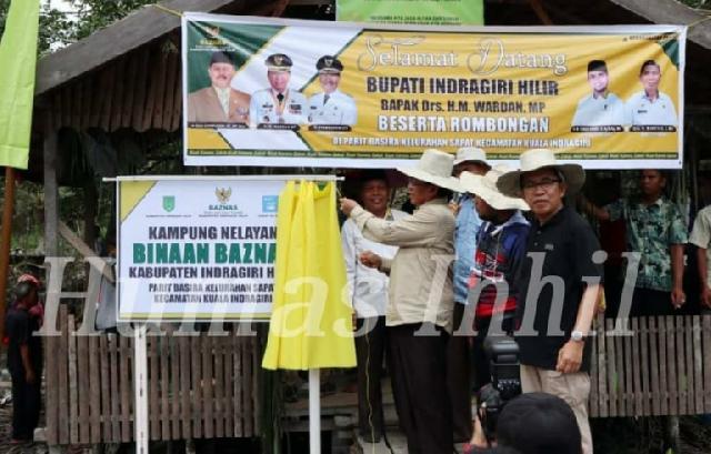 Bupati Inhil Resmikan Parit Basirah Menjadi Kampung Nelayan