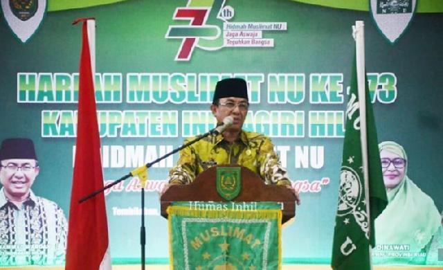 Bupati Wardan Hadiri Peringatan Harlah Muslimat NU ke-73