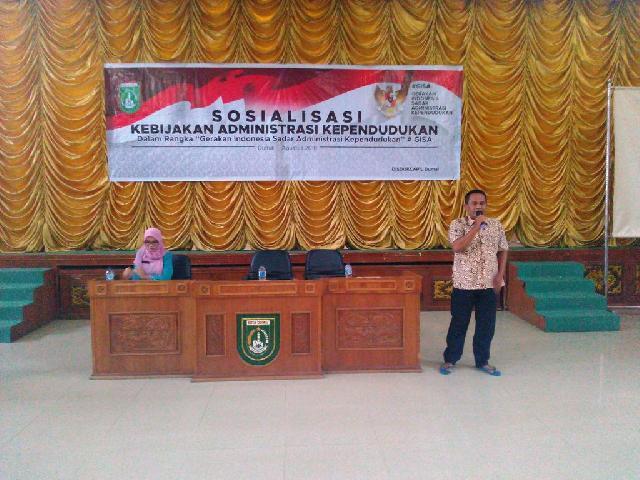Disdukcapil Dumai Sosialisasikan GISA untuk Lima Kecamatan