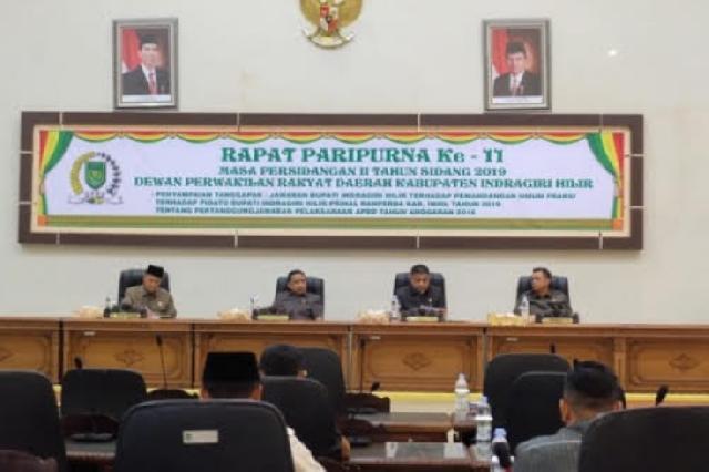 Bupati Inhil Setujui Ranperda Pertanggungjawaban APBD Tahun Anggaran 2018