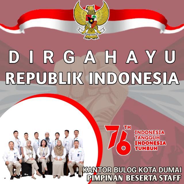 Bulog Kota Dumai Mengucapkan, Dirgahayu Republik Indonesia Yang ke 76