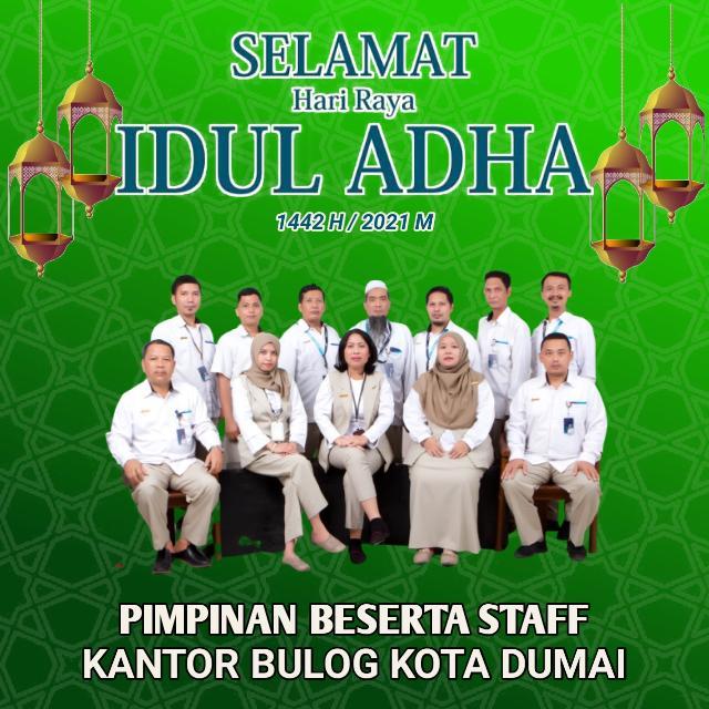 Bulog Kota Dumai Mengucapkan, Selamat Merayakan Hari Raya Idul Adha 1442H/2021M